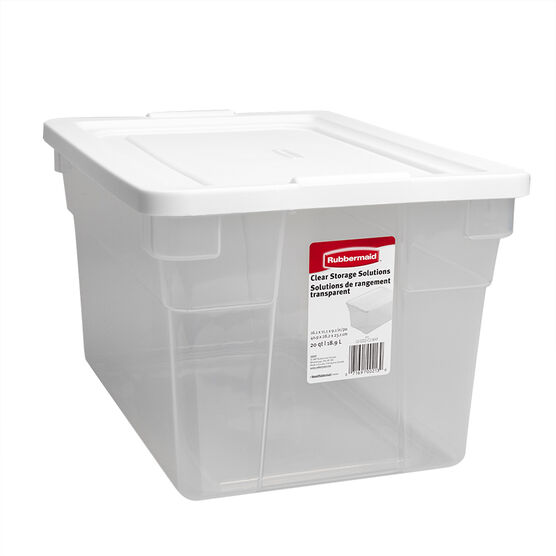 Rubbermaid See-through Storage Box - 18.9L