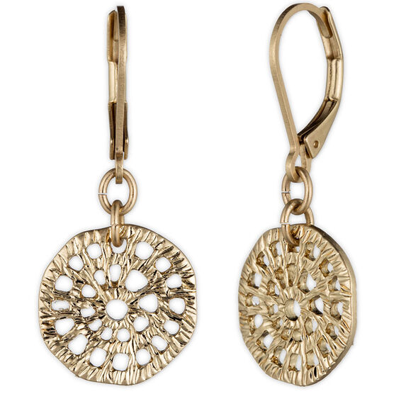 Lonna Lilly Disc Pendant Drop Earrings