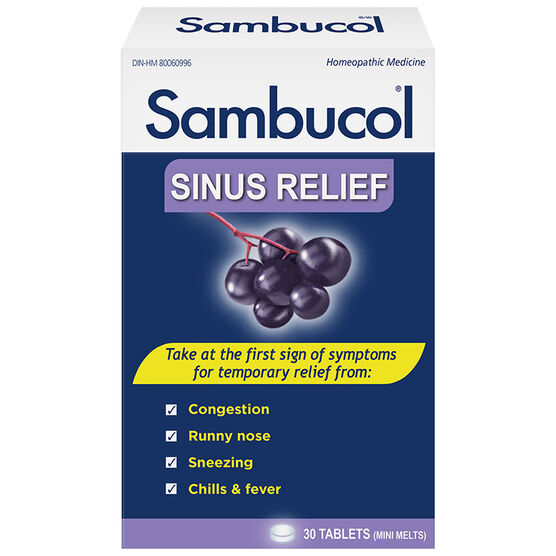 Sambucol Cold & Flu Nasal Relief - Black Elderberry - 30's