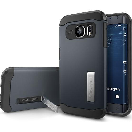 Spigen Slim Armor Case for Samsung Galaxy S6 Edge - Metal Slate - SGP11426