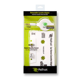 ReTrak Retractable Cassette Adapter - Black - ETCASSETTEB