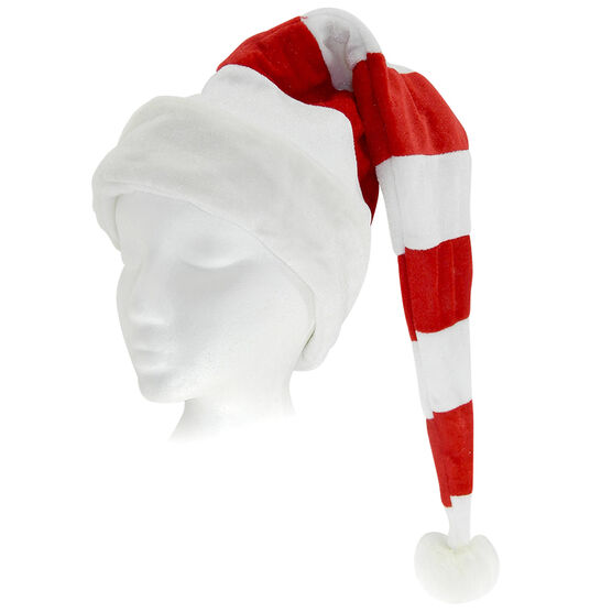 Christmas Forever Santa's Hat - 31 inch - Red & White Stripes