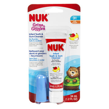 NUK Grin & Giggles Infant Tooth & Gum Cleanser - Apple Banana - 31ml