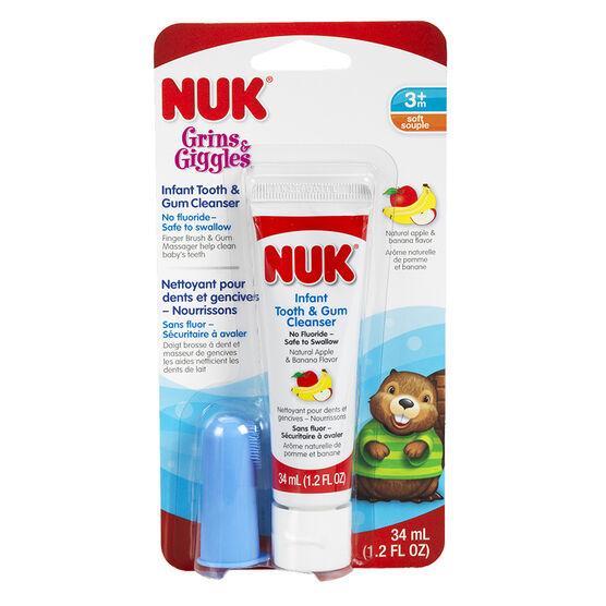 NUK Grin & Giggles Infant Tooth & Gum Cleanser - Apple Banana - 31ml