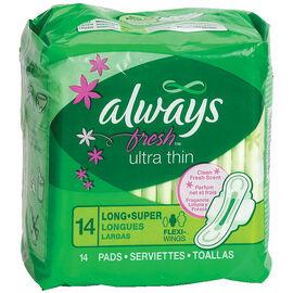 Always Fresh Ultra Thins - Long Super - 14's
