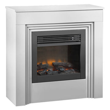 Rigaud Electric Fire Place with Mantel - White - A5721/A5720