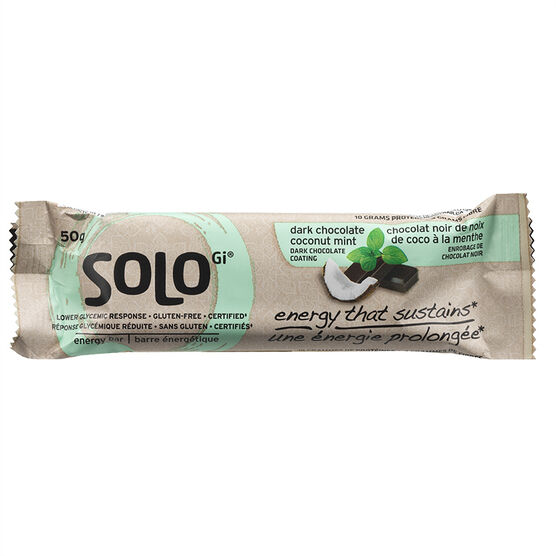 SoLo Gi Energy Bar - Dark Chocolate Coconut Mint - 50g