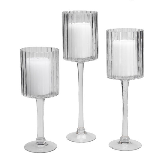 London Drugs Glass Candle Holder Set - 3 piece