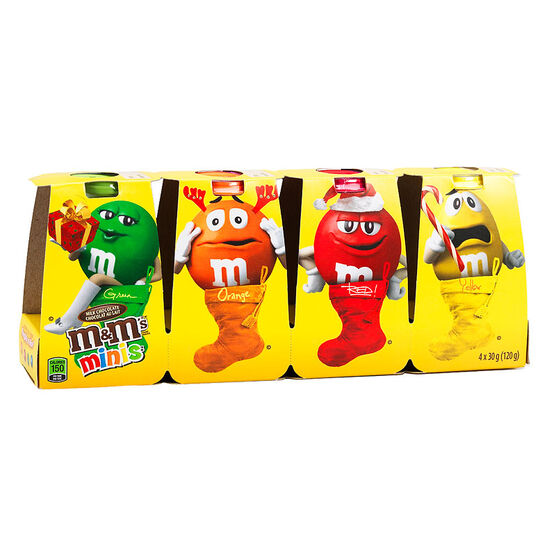 M&M's Minis Christmas Pack- Milk Chocolate - 4 pack