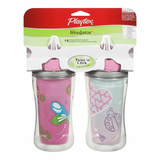 Playtex Insulator Straw Cups - Assorted - 2 pack