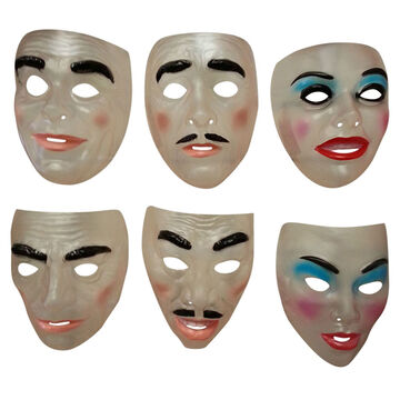 Halloween Transparent Masks - Assorted