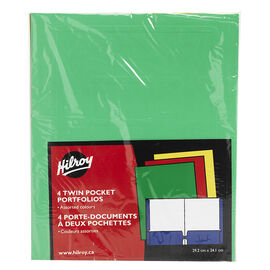 Hilroy Twin Pocket Portfolio - 4 pack