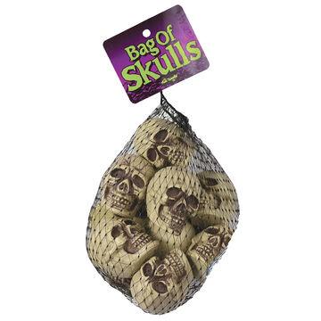 Halloween Bag of Skulls - Natural