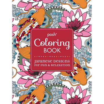 Posh Coloring Book - Japanese Designs