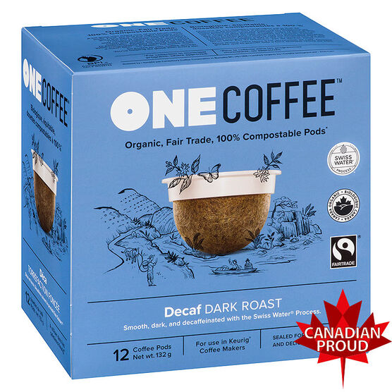 One Coffee Organic Single Serve Coffee Pods - Decaf - 12's