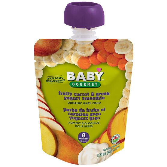 Baby Gourmet Baby Food Stage 3 - Fruity Carrot and Greek Yogurt Smoothie - 128ml