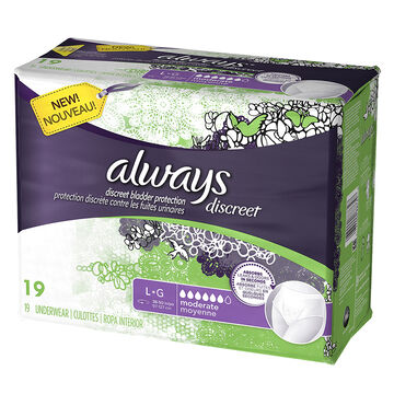 Always Discreet Underwear Moderate Large  - 19's