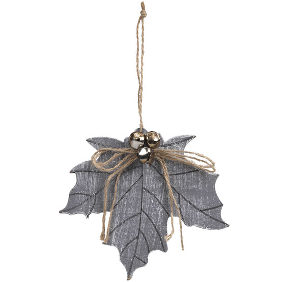 Winter Wishes Maple Leaf Ornament - 4.75in - XLD6001259FOB