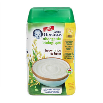Gerber Organic Cereal - Brown Rice - 208g
