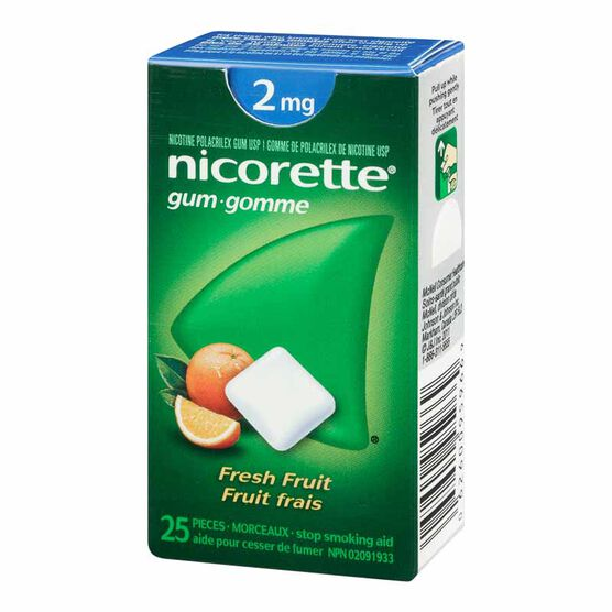 Nicorette Gum - Fresh Fruit - 2mg - 25's