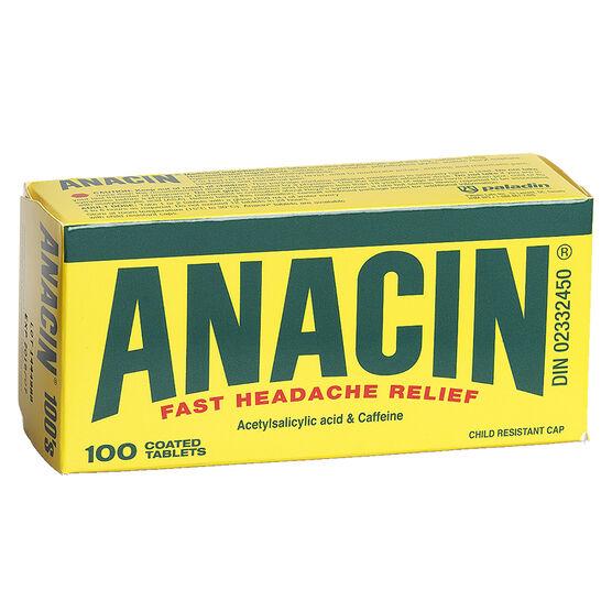 Anacin Tablets - 100's