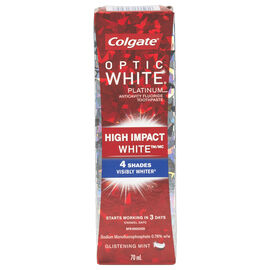 Colgate Optic White Platinum Toothpaste - High Impact White - Glistening Mint - 70 ml