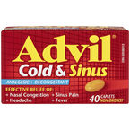 Advil Cold & Sinus Caplets - 40's