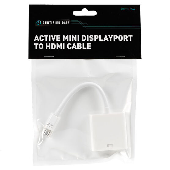 Certified Data Active Mini DisplayPort to HDMI Cable - GUT-N25W