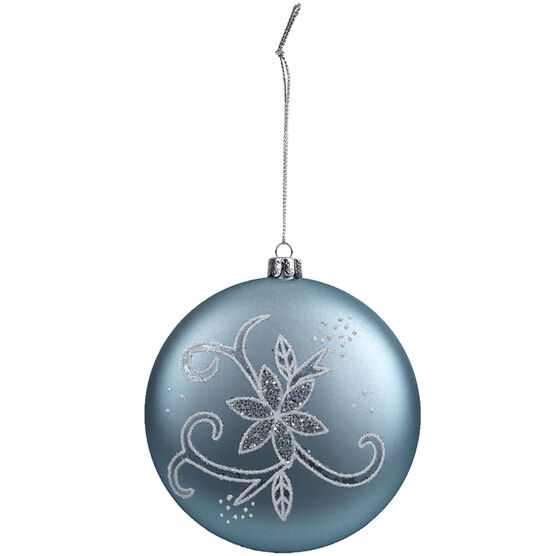 Winter Wishes Disc Ornament with Flower - XLD2016-33UFOB