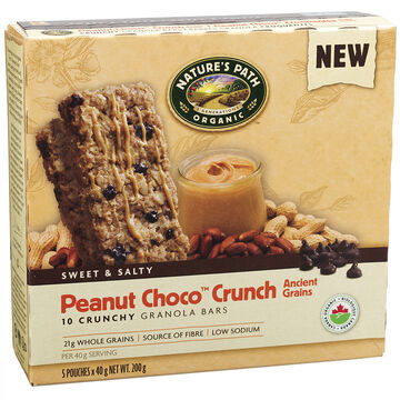 Natures Path Crunchy Granola Bars - Peanut Choco Crunch - 200g/5 pack