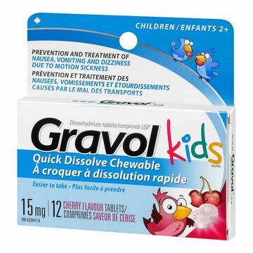 Gravol Chewable Tablets 15mg - 12's