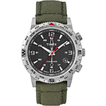 Timex IQ Compass - Green Silver - T2P286ZL