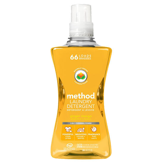 Method 4X Laundry Detergent - Ginger Mango - 1.58L/66 loads