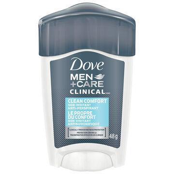 Dove Men +Care Clean Comfort Non Irritant Anti-Perspirant Stick - 48g