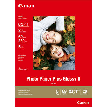 Canon PP-201 Photo Paper Plus Glossy 2 - 8.5 x 11 inch - 20 sheets - 2311B001