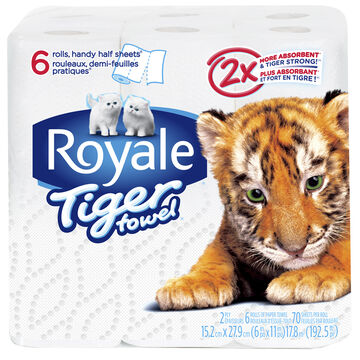 Royale Tiger Paper Towels - 6's
