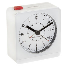 Marathon Desk Alarm Clock- White - CL030053WH