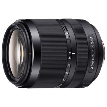 Sony DT 18-135mm F3.5-5.6 SAM Zoom Lens - Black - SAL18135
