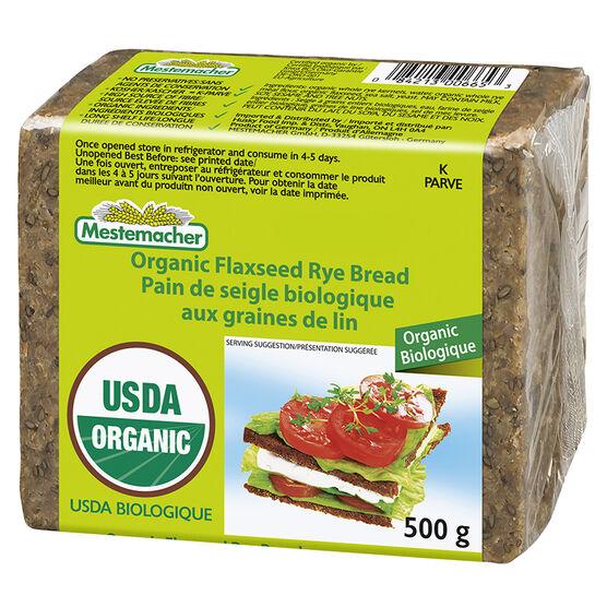Mestenmacher Organic Flaxseed Rye Bread - 500g