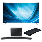 Samsung 65-in Curved 4K Smart TV + 2.1-ch Curved Soundbar + UHD Blu-ray Player Package - PKG #30668