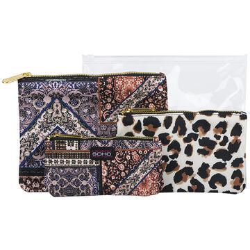 Soho Wild Medley Cosmetic Bag Set - 4 piece