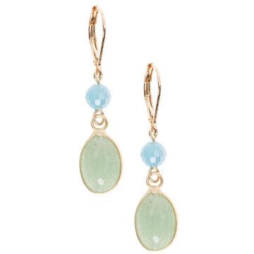 Lonna & Lilly Double Drop Earrings - Green