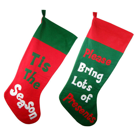 Christmas Forever Large Stocking - 36in - XM-US4550 - Assorted