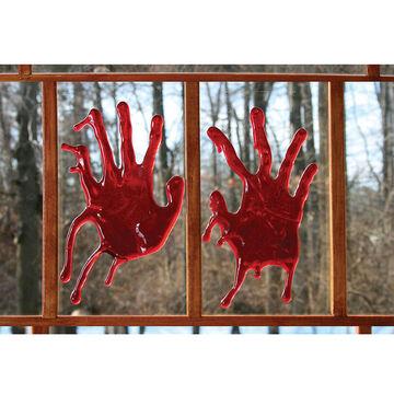 Halloween Bloody Handprints Window Clings
