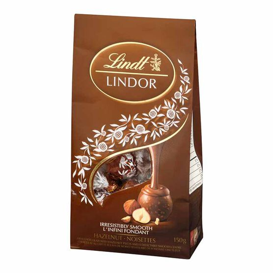 Lindt Lindor Bag - Hazelnut & Milk Chocolate Truffles - 150g