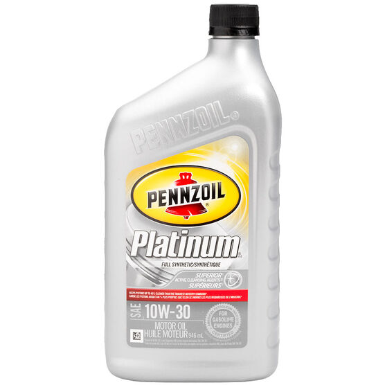 Pennzoil Platinum Synthetic Motor Oil 10w30 946ml