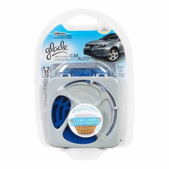 Glade Décor Scents - Car, Clean Linen - 1 unit