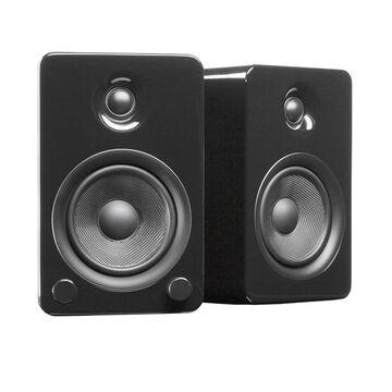 Kanto YU5 Powered Bookshelf Speakers - Pair - Gloss Black - YU5GB