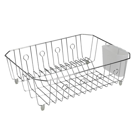 Rubbermaid Basic Wire Dish Drainer - Chrome - Large