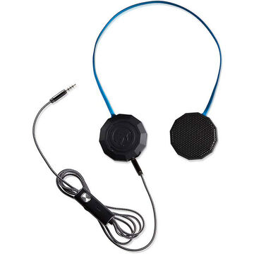 Outdoor Technology Chips Wired Headphones with Mic - Black/Blue - OT0042